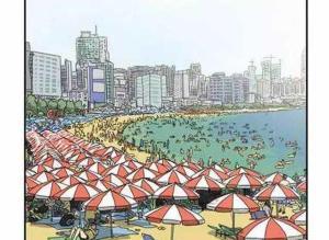 【恐怖漫画 短篇】恐怖漫画《海滩》那边的那位是什