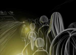 【恐怖漫画 短篇】韩国恐怖漫画《夜间队伍》