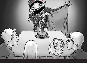 【恐怖漫画 短篇】无声恐怖漫画《魔术》