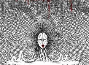 【恐怖漫画 短篇】恐怖漫画《纹理少女》复活的植物少女