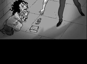 【恐怖漫画 短篇】无声恐怖漫画《乞丐》