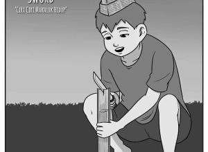 【恐怖漫画 短篇】耍剑